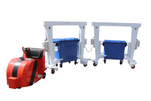 Intralogistik-Lösungen: Abfallbehälter nehmen den Zug…