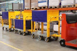 Sonderanfertigung von Plattformwagen für den Transport von Schleifscheiben (Automobilsektor)